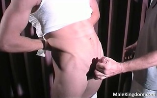 astounding blonde homosexual is half naked part11
