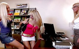 hawt golden-haired whores take up with the tongue