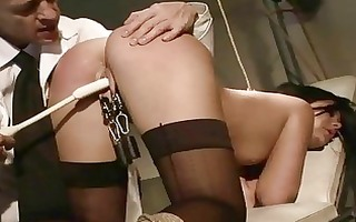 madison parker receives bondaged and anal screwed