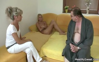 she is rides her bf dad&#483 s jock