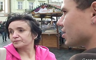 he is brings granny tourist home and bangs her