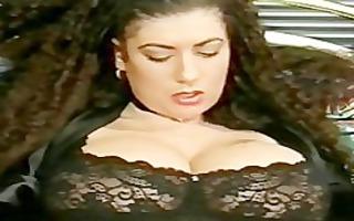 breasty tiziana redford in dark lingerie