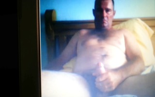 daddy catch in webcam