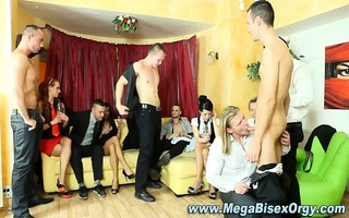 hungry bisex group of chaps and harlots