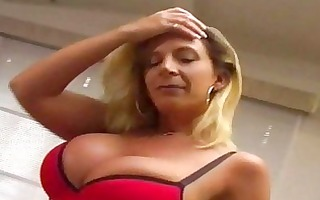 palatable dolly receives cum on her titties