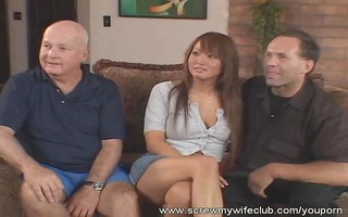 hubby watched wife screwed by hard dongs