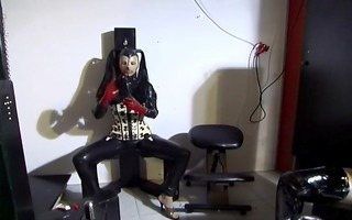 kinky latex foursome with blow up doll - absurdum
