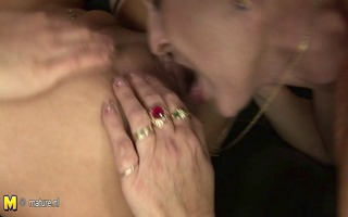 two sexy honeys fuck one lewd aged mommy