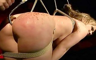 wicked blond receives bondaged and anal drilled