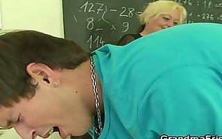 amoral old teacher takes weenies