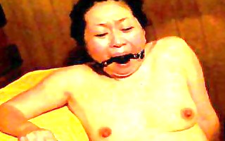 japanese serf in sauna receives fingered