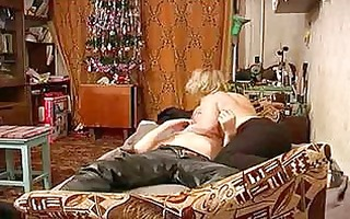 russian older mommy with schoolboy