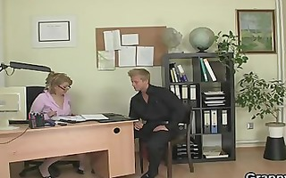 office lady gives head and receives screwed