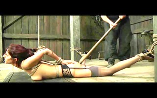 fetish villein lavender rayne anal hooked in