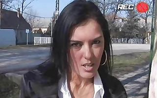 enormous chested dark brown momma gets screwed in