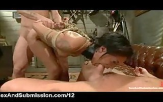 fastened up playgirl double penetration copulates