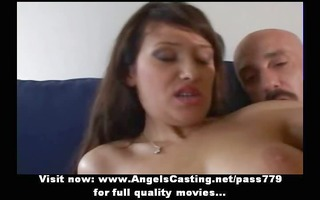 sexy brunette non-professional mommy doing oral