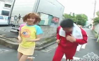 oriental redhead legal age teenager gets picked