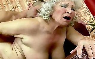 breasty fat grandma receives screwed