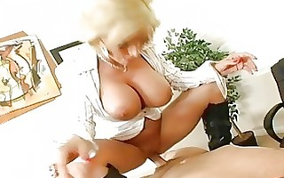 enjoyable breasty golden-haired milf getting her