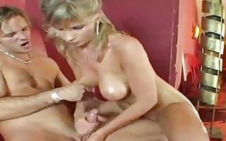 very handsome milf gives a great tugjob