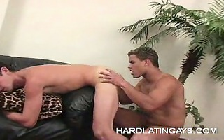homosexual latino shows off his jock