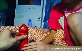 russian wife receives a large naughty facial