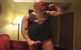 lengthy bearded selfplaying bear