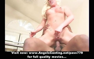 mesmerizing golden-haired chick screwed hard and