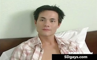 sexy youthful oriental homosexual receives