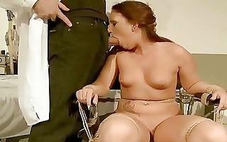 naughty redhead receives bondaged and punished