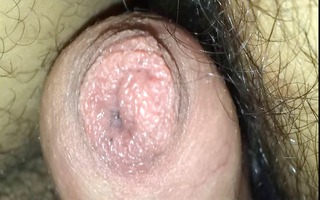my knob cums throughout constricted foreskin