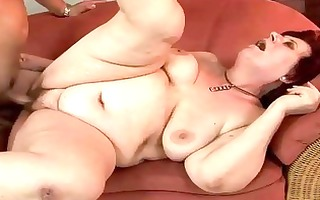 plump grandma receives screwed gorgeous hard