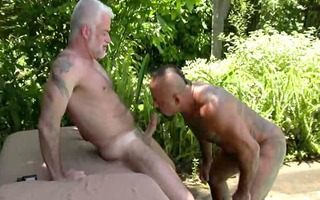 tattoo muscle dad pool sex