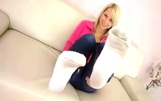 dirty white socks