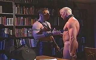 sexy leather sensation fetish with muscled homo