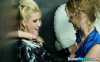 lesbians receive soaked and immodest from