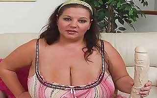 obese brunette momma with supplementary large