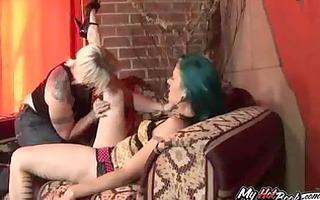 poppy roxx and varla vex are two, heavily tattooe