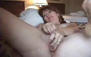 excited mature wife anal masturbating
