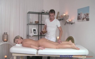 massage rooms lascivious blond has her rectal