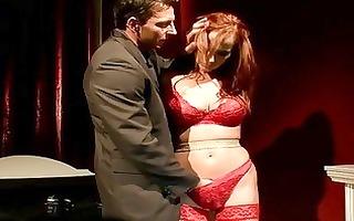 breasty rehdead getting bondaged