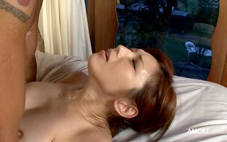 cute oriental has agonorgasmos and squirts -