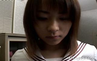 jap angel in uniform massaged erotically by