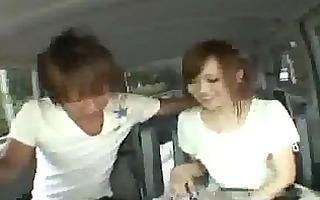 japanese babe fucked inside the van