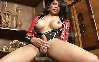 latex fetish ladyman masturbating