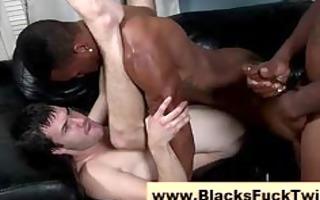 interracial twink cums after jerking off