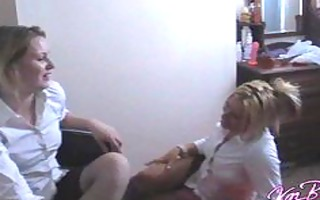 college gal lesbian babes play truth or dare and