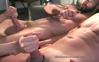 twink in nature fucked by two muscle daddys