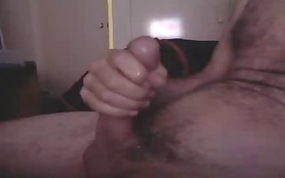 stroking to cum